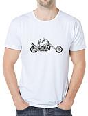 billige T-shirts og undertrøjer til herrer-Rund hals Tynd Herre - Grafisk / Dødningehoveder Trykt mønster Forretning / Elegant Plusstørrelser T-shirt Hvid XXL / Kortærmet