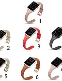 זול רצועת שעונים-רצועת עור מקורית עבור סדרת שעונים תפוח 4/3/2/1 קלאסי אבזם רצועה iwatch