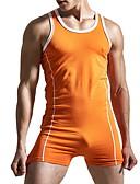זול תחתוני גברים אקזוטיים-M L XL אחיד, Rompers רזה ישר שחור כתום אודם בגדי ריקוד גברים