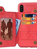 זול מגנים לאייפון-מגן עבור Apple iPhone XS / iPhone XR / iPhone XS Max ארנק / מחזיק כרטיסים / עם מעמד כיסוי אחורי אחיד רך TPU