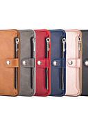 זול מגנים לאייפון-מגן עבור Apple iPhone XS / iPhone XR / iPhone XS Max ארנק / מחזיק כרטיסים כיסוי אחורי אחיד קשיח עור PU