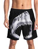 זול טישרטים לגופיות לגברים-בגדי ריקוד גברים ספורטיבי / בסיסי רזה צ'ינו / שורטים מכנסיים - טרופי / הדפסת 3D / חיה ספורטיבי / דפוס שחור L XL XXL