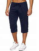 hesapli Erkek Pantolonları ve Şortları-Erkek Temel İnce Chinos Pantolon - Solid Siyah Koyu Gri Koyu Mavi M L XL