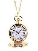 baratos Relógios Homem-Homens Relógio de Bolso Quartzo Dourada Relógio Casual Mostrador Grande Analógico Casual Ao ar Livre - Dourado