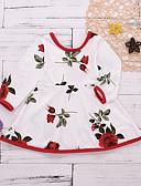 זול שמלות לתינוקות-שמלה כותנה שרוול ארוך דפוס בסיסי בנות תִינוֹק / פעוטות