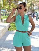 hesapli Kadın Tulumları-Kadın's Temel / Sokak Şıklığı Şortlar Pantolon - Solid Yüksek Bel Sarı Açık Yeşil Fuşya L XL XXL