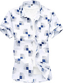 abordables Ropa interior para hombre exótica-Hombre Tallas Grandes Camisa Cuadrícula Blanco XXXXL