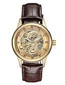 זול שעונים-בגדי ריקוד גברים שעון מכני אוטומטי נמתח לבד עור אמיתי שחור / חום 30 m עמיד במים זוהר בחושך מגניב אנלוגי פאר אופנתי - מוזהב לבן זהב / לבן שחור / זהב