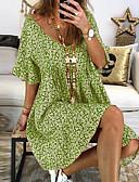 hesapli Kadın Elbiseleri-Kadın's Temel Kılıf Elbise - Geometrik Maksi