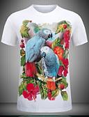 billige T-skjorter til damer-Tynn T-skjorte Dame - Blomstret Hvit
