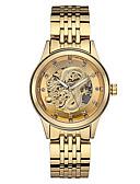 povoljno Luksuzni satovi-Muškarci Mehanički Satovi Automatski Classic Style Nehrđajući čelik Bijela / Zlatna 30 m Hollow graviranje Svijetli u mraku Analog Luksuz Klasik - Zlato Zlatni + crna Bijela / Zlatna Dvije godine