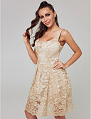 cheap Evening Dresses-A-Line Scoop Neck Short / Mini Lace Cocktail Party Dress with Lace Insert by TS Couture®