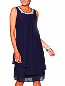 זול שמלות במידות גדולות-מיני אחיד - שמלה שיפון מידות גדולות ליציאה בגדי ריקוד נשים