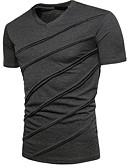 billige T-shirts og undertrøjer til herrer-V-hals Herre - Ensfarvet T-shirt Sort