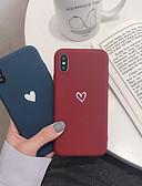 Недорогие Кейсы для iPhone-Кейс для Назначение Apple iPhone XR / iPhone XS Max / iPhone X Защита от удара Кейс на заднюю панель С сердцем Мягкий ТПУ