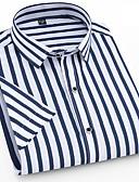 cheap Men's Shirts-Men's Basic Slim Shirt - Striped Ruffle Navy Blue 43