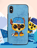 billige iPhone-etuier-Etui Til Apple iPhone X / iPhone XS Max Mønster Bagcover Hund Hårdt PU Læder for iPhone XS / iPhone XR / iPhone XS Max