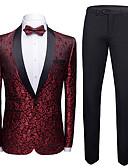 זול חליפות-טוקסידו גזרה מחוייטת צווארון צעיף (שאל) Single Breasted One-button פוליאסטר סרוג