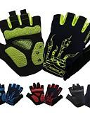 זול מחזיקים ומרכבים-כפפות רכיבה נושם Anti-Shake מונע החלקה פתיליות בלי אצבעות כפפות ספורט/ פעילות שחור ירוק אדום ל מבוגרים רכיבה בכביש פעילות חוץ רכיבה על אופניים / אופנייים