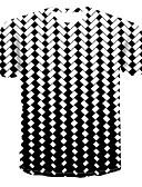 billige T-shirts og undertrøjer til herrer-Rund hals Herre - Farveblok / 3D / Grafisk Trykt mønster T-shirt Hvid XXXXL