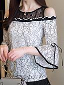 hesapli Bluz-Kadın's İnce - Bluz Geometrik Beyaz