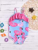 Χαμηλού Κόστους Φορέματα για κορίτσια-Παιδιά Νήπιο Βρέφος Κοριτσίστικα Στάμπα Αμάνικο Βαμβάκι Πολυεστέρας Μαγιό Μπλε Απαλό