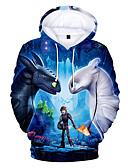 billige Hættetrøjer og sweatshirts til drenge-Børn / Baby Drenge Basale Trykt mønster Trykt mønster Langærmet Polyester Hættetrøje og sweatshirt Blå