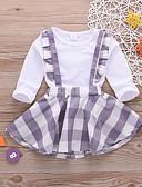 tanie Sukienki dla niemowląt-Dziecko Dla dziewczynek Podstawowy Solidne kolory Długi rękaw Regularny Bawełna Komplet odzieży Biały / Brzdąc