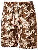 povoljno Muške jakne i kaputi-Muškarci Boho Veći konfekcijski brojevi Chinos Hlače - Cvjetni print / 3D ispis Tropska lista, Print žuta XXXL XXXXL XXXXXL / Vezica