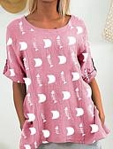 billiga Skjorta-Geometrisk T-shirt Dam Marinblå XXXL