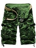 abordables Pantalones y Shorts de Hombre-Hombre Básico Delgado Shorts Pantalones - Estampado Fucsia Verde Ejército Caqui XL XXL XXXL