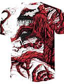povoljno Muške majice i potkošulje-Veći konfekcijski brojevi Majica s rukavima Muškarci 3D / Grafika / Crtani film Okrugli izrez Print Obala XXXL