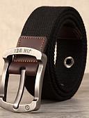 Χαμηλού Κόστους Men's Belt-Γιούνισεξ Μονόχρωμο / Πουά Ενεργό / Βασικό / Χαλαρές μπούκλες Λεπτή ζώνη