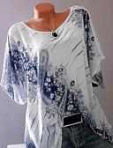 halpa T-paita-Naisten Painettu Geometrinen Perus T-paita Apila XXXL