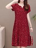 abordables Robes Femme-Femme Mi-long Courte Robe Vin XXXXL XXXXXL XXXXXXL Manches Courtes
