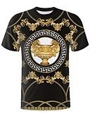 billige T-shirts og undertrøjer til herrer-Rund hals Herre - Grafisk T-shirt Sort XXL