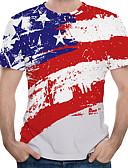 povoljno Maske za mobitele-Veličina EU / SAD Majica s rukavima Muškarci Geometrijski oblici Okrugli izrez Print Obala