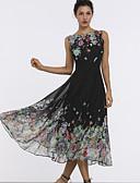 povoljno Ženske haljine-Žene Osnovni Swing kroj Haljina Cvjetni print Midi