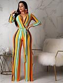 billige Jumpsuits og sparkebukser til damer-Dame Grunnleggende Oransje Kjeledresser, Geometrisk Trykt mønster M L XL