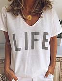 povoljno Majica s rukavima-Majica s rukavima Žene Slovo V izrez Obala