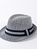 halpa Naisten hatut-Unisex Aktiivinen Perus söpö tyyli Olkihattu Aurinkohattu-Color Block Olki Kaikki vuodenajat Beesi Laivaston sininen Khaki