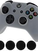 זול להקות Smartwatch-ג 'נרל אלקטריק חדש כיסוי סיליקון במקרה העור בקר& אחיזה מקל כובעים עבור Xbox אחד (לבן)
