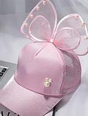 זול ילדים צעיפים-מידה אחת לבן / שחור / ורוד מסמיק כובעים ומצחיות כותנה פפיון / מסוגנן אחיד וינטאג' / פעיל / בסיסי בנות ילדים / פעוטות