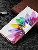 זול מגנים לטלפון-מגן עבור Samsung Galaxy Galaxy M10 (2019) / Galaxy M20(2019) / Galaxy M30(2019) ארנק / מחזיק כרטיסים / עם מעמד כיסוי מלא פרח קשיח עור PU