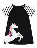 זול שמלות לבנות-שמלה מעל הברך שרוולים קצרים חיה בנות ילדים