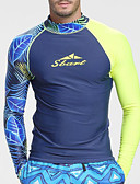 ราคาถูก แจ็กเก็ต &เสื้อโค้ทผู้ชาย-SBART สำหรับผู้ชาย สแปนเด็กซ์ แห้งเร็ว ความยืดหยุ่นสูง แขนยาว การว่ายน้ำ การดำน้ำ Surfing ฤดูร้อน Spring, Fall, Winter, Summer