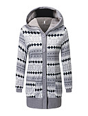 povoljno Ženske kaputi od kože i umjetne kože-Žene Jednobojni Parka, Poliester Sive boje XL / XXL / XXXL