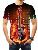 abordables Prêt-à-Porter Homme-Tee-shirt Homme, 3D Imprimé Basique Arc-en-ciel US42