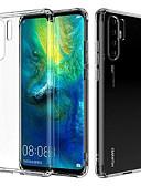 hesapli Cep Telefonu Kılıfları-Pouzdro Uyumluluk Huawei Huawei P30 Pro Şeffaf Arka Kapak Şeffaf Yumuşak TPU