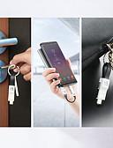 זול כבל & מטענים iPhone-floveme 13cm 3 ב 1 מהיר מהיר תשלום כבל USB מיני מחזיק מפתחות שימוש רב ברק סוג c מיקרו כבל USB עבור iPhone samaung google nokia Universal